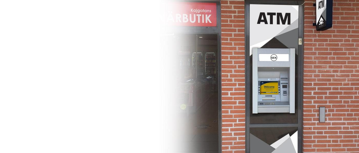 Erbjud dina kunder ytterligare en service med en Euronet Bankomat.