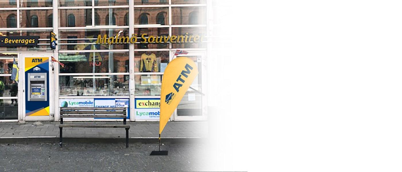 Ta reda på om din verksamhet kan skaffa Euronet-bankomat genom att använda vårt kvalificeringskalkylator.
